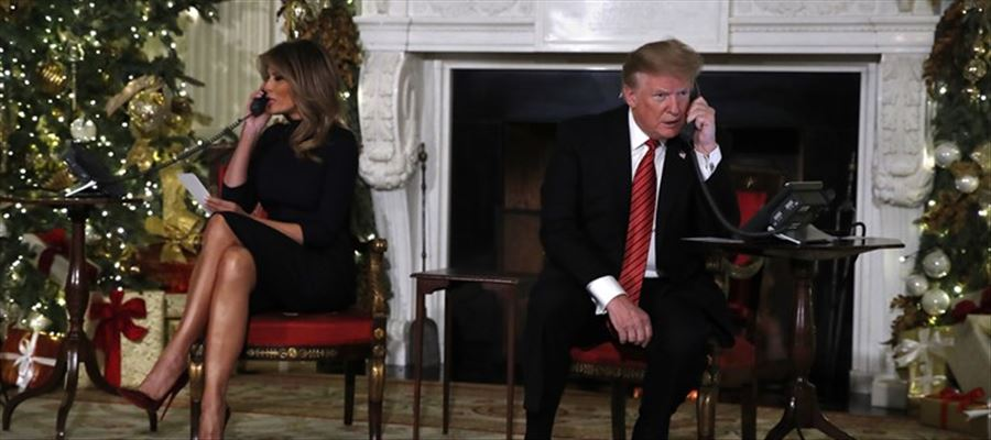 Donald Trump took calls from children on Christmas